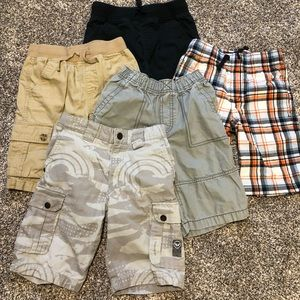 5 pairs of boys size 7 shorts